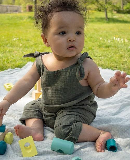Kit prêt à coudre combinaison bébé - Atelier des Petits Patrons