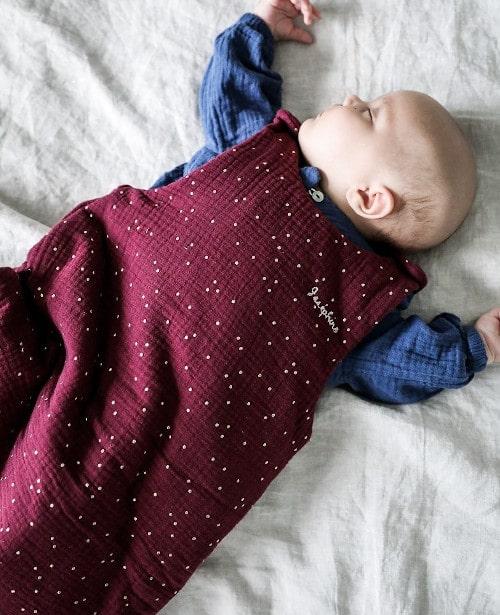Kit couture gigoteuse bébé en double gaze pois - Filomène Ateliers
