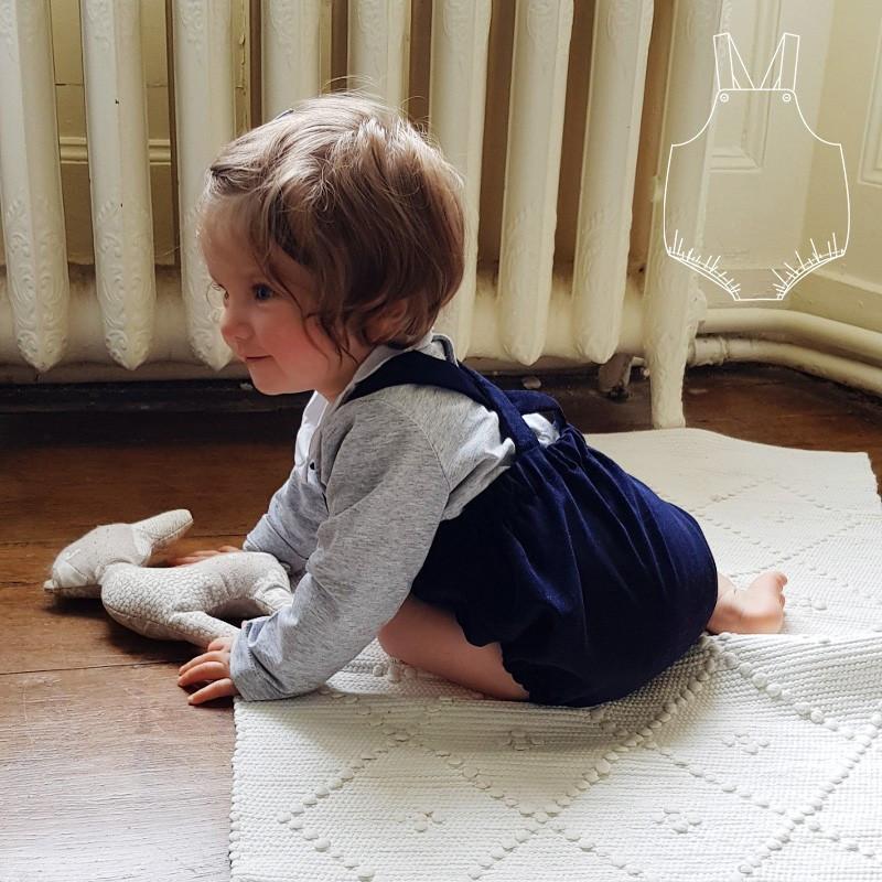 Patron salopette bébé Milan - Cœur d'Artichaut