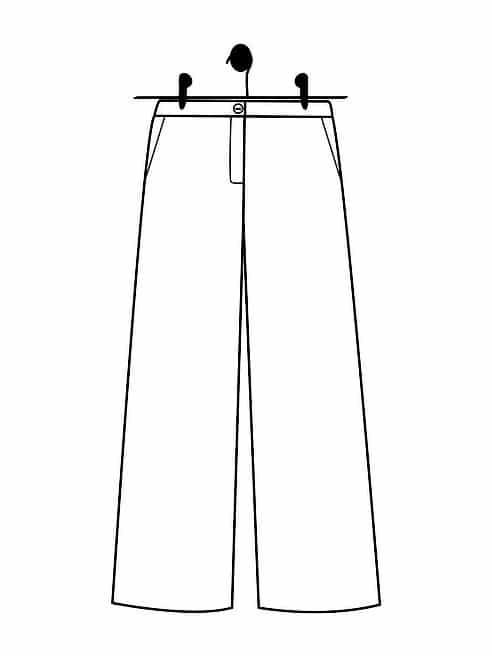 Patron pantalon Denise (dessin technique) - Le Laboratoire Familial