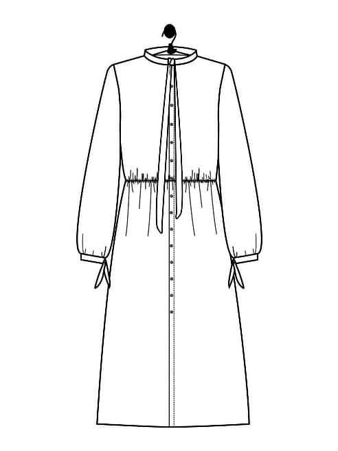 Dessin technique robe longue Gabrielle - Le Laboratoire Familial