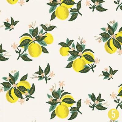 Popeline citrus blossom lemon - Rifle Paper Co