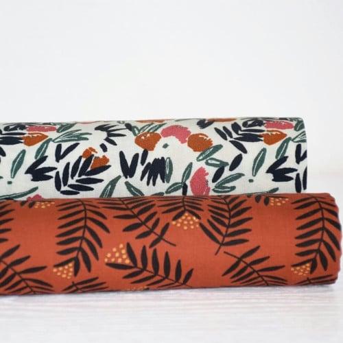 Nouvelle collection Cousette Fabrics - Jungle de Fleurs Blush et le Rameaux Ambre