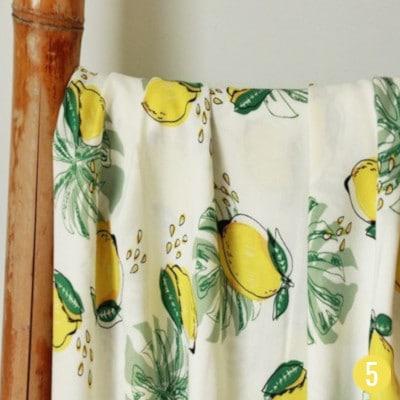 Viscose citrons - Un chat sur un fil
