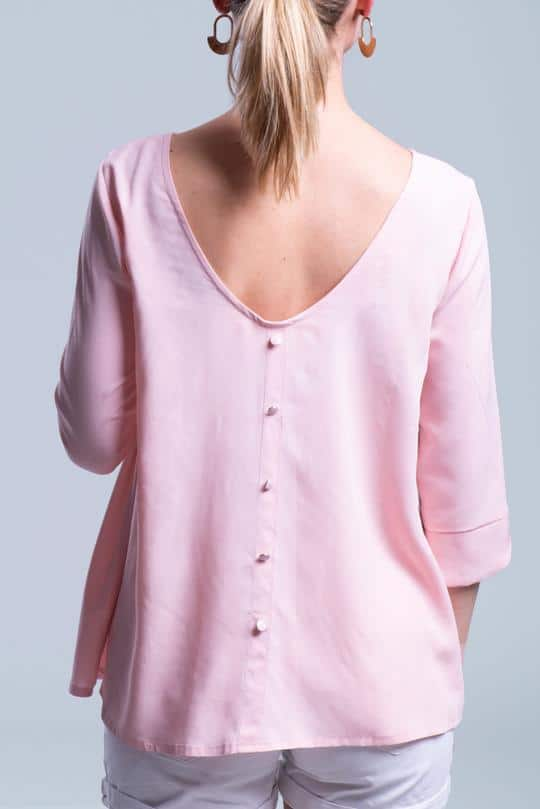 dos boutonné de la blouse Poppy - Joli Lab