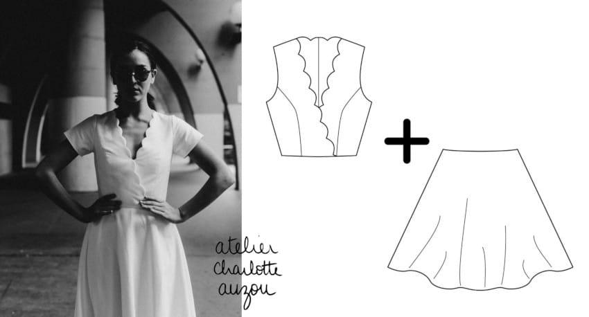 concevez votre robe de cérémonie avec les patrons Charlotte Auzou
