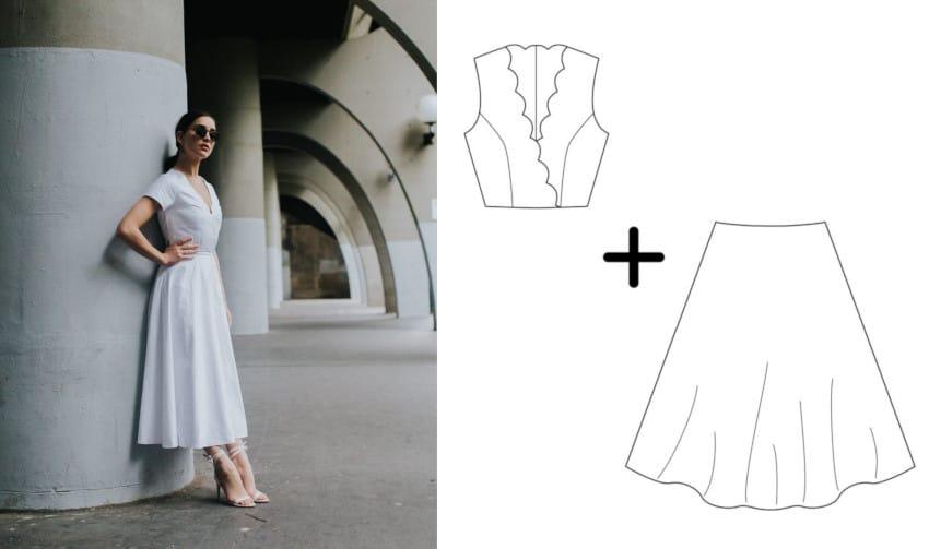 couture robe de mariée - patron à personnaliser Atelier Charlotte Auzou