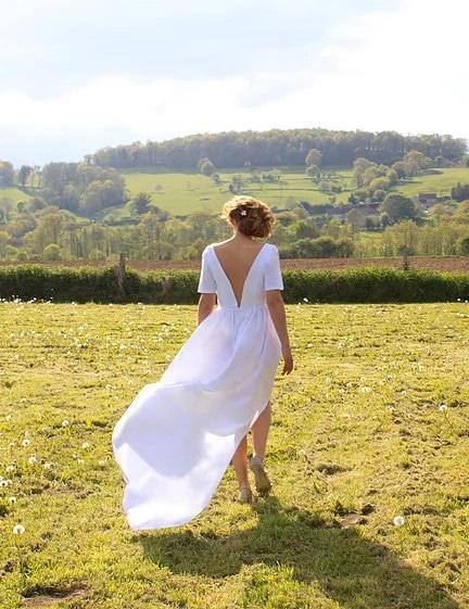 idée couture robe de mariée dos nu : Elisabeth (patron Le Laboratoire Familial)