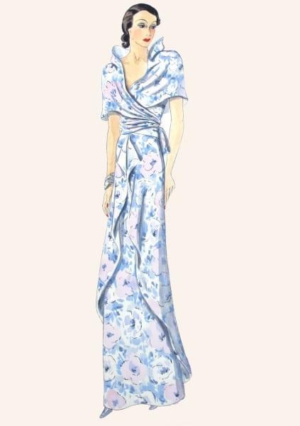 Robe portefeuille d'Elsa Schiaparelli