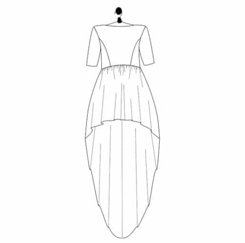 patron robe mariage asymetrique Elisabeth - Le Laboratoire Familial