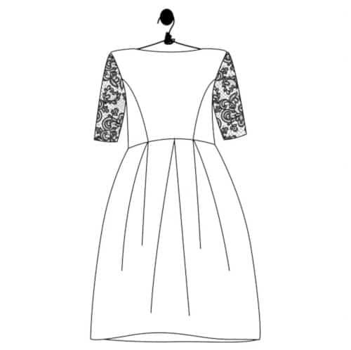 Patron robe de mariée courte Edith - Le Laboratoire Familial