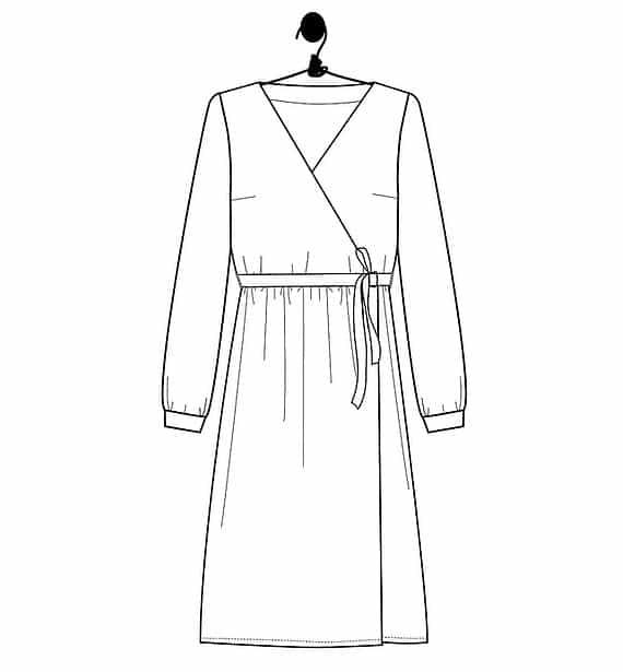 Patron robe portefeuille Charlotte - Le Laboratoire Familial
