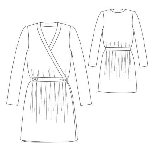Patron robe portefeuille Madeleine - République du Chiffon