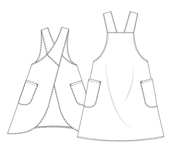 Patron tablier japonais Maria Apron - MAVEN patterns