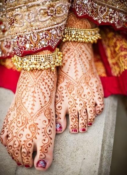 Bracelets de cheville (payals) pour mariage hindoue