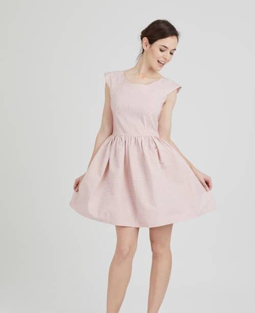 Idée couture pour une tenue de mariage : la robe Aurore rose blush - Coralie Bijasson