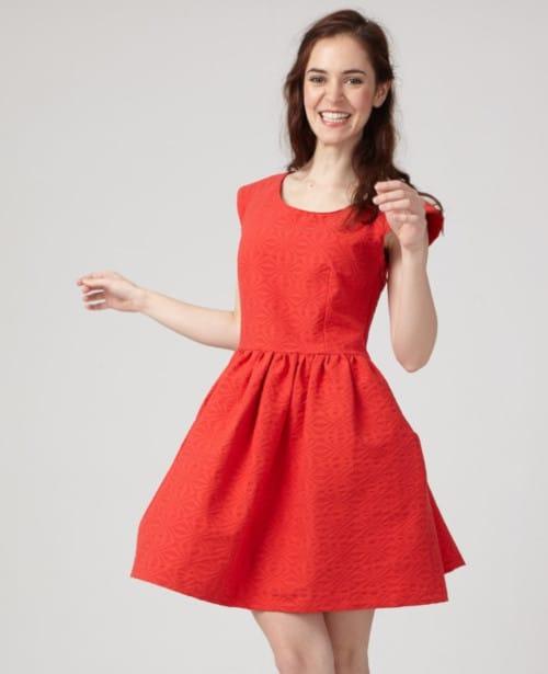 Robe Aurore rouge -Coralie Bijasson