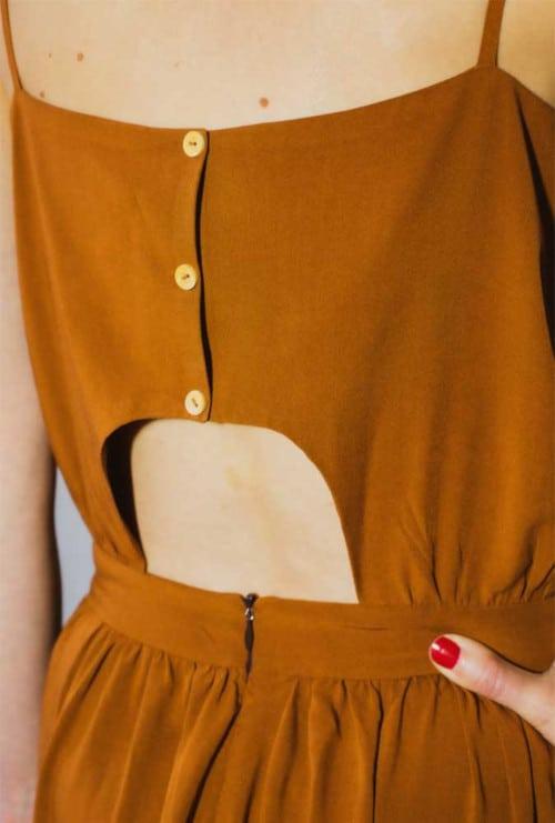 Dos de la robe Eowyn cache-cœur - patron Mimoi x Sew la Jupe