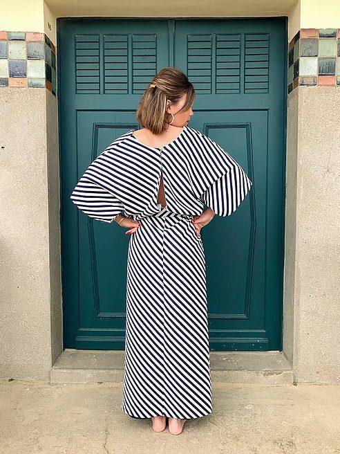 Robe kimono Olivia vue de dos - patron Le Laboratoire Familial