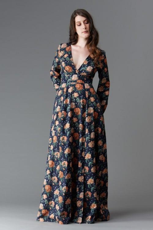 Idée tenue mariage : la robe Magnolia longue - patron Deer and Doe