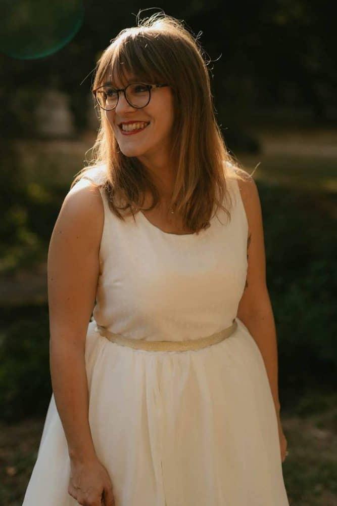 La jolie robe de mariée cousue par Cathy du blog My name is Georges