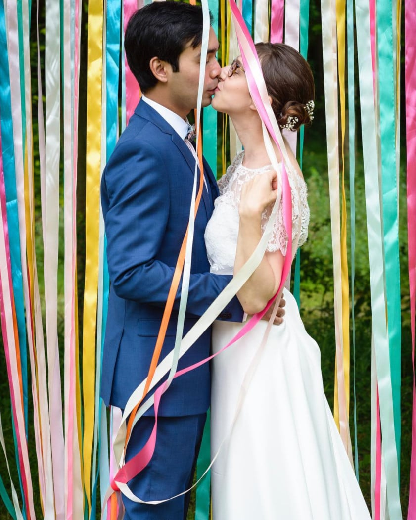 Robe de mariée confectionnée par @thepompomlife