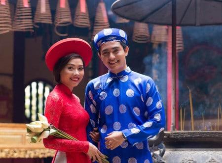 Mariée en rouge au Vietnam