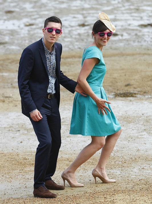 Robe Toupie (patron Eglantine & Zoé) bleu turquoise