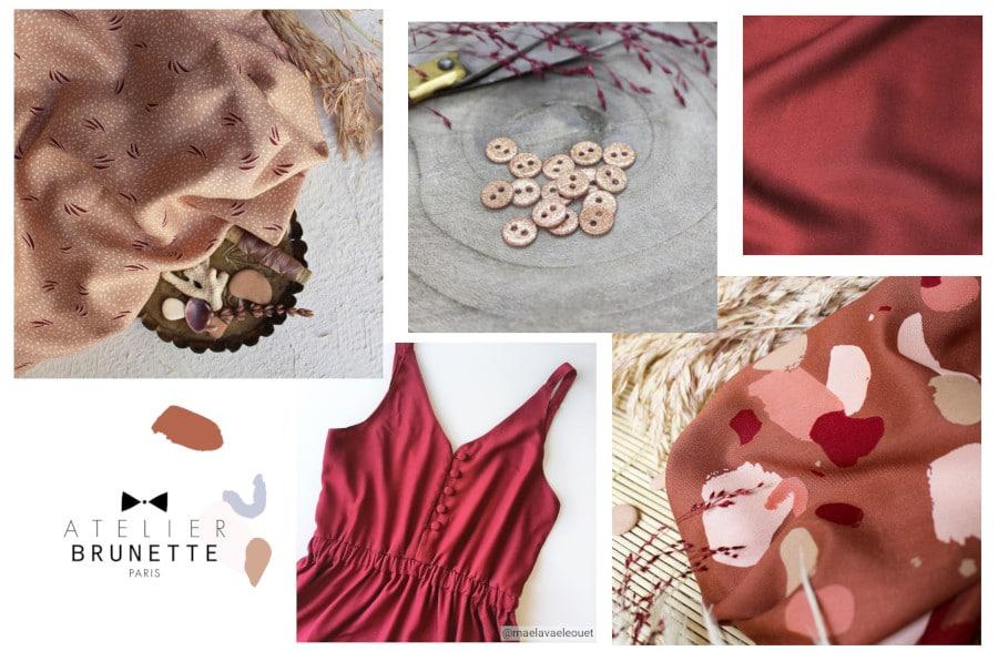 coudre une tenue mariage - sélection de tissus Atelier Brunette