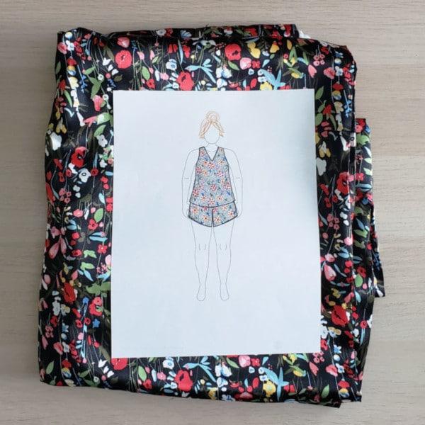 Dessin de mode pyjama femme avec MyBodyModel