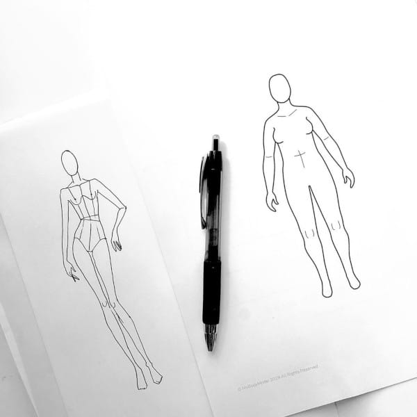 Silhouette de mode versus silhouette réelle avec MyBodyModel