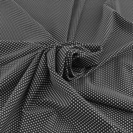 Tissu maillot de bain noir à petits pois blancs - The Sweet Mercerie