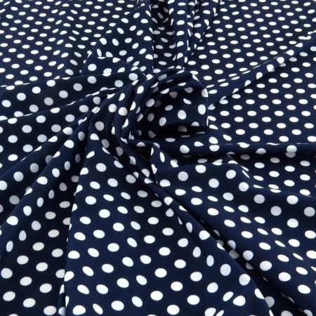 tissu maillot de bain bleu marine à pois blanc - The Sweet Mercerie