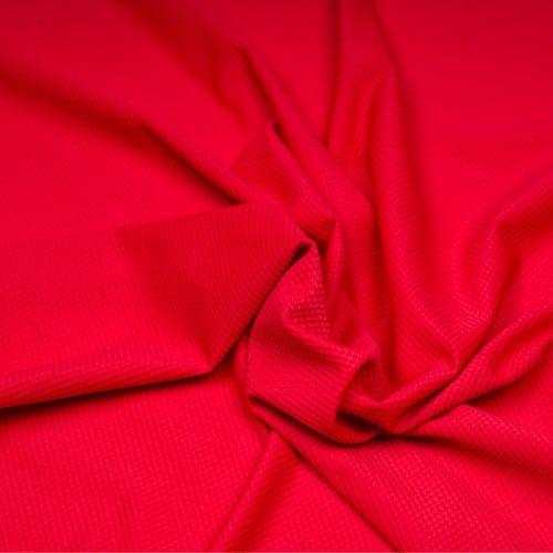 Tissu maillot de bain rouge effet nid d'abeille - Pretty Mercerie