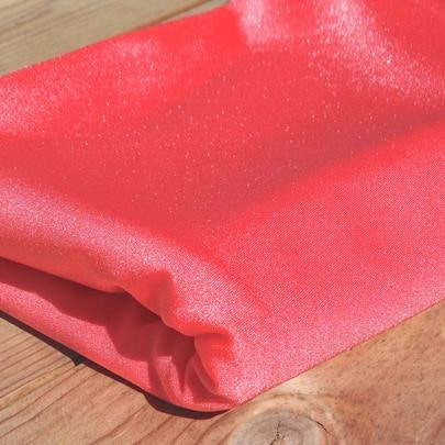 tissu maillot de bain scintillant corail - Atelier 27 x Atelier Guillemette