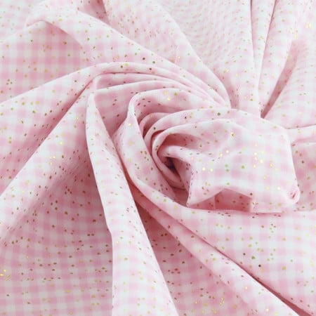 Tissu maillot de bain vichy rose et blanc - The Sweet Mercerie
