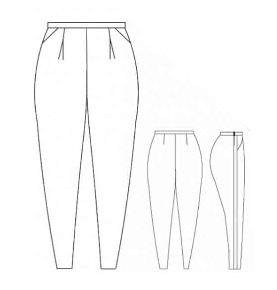 Dessin technique pantalon Lou - Mouna Sew