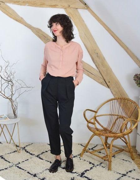 Pantalon à plis Gambette - patron Cousette patterns