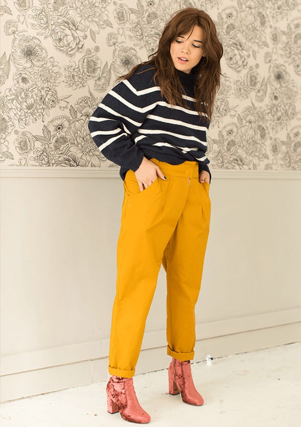 pantalon carotte Julietta jaune - patron Make My Lemonade