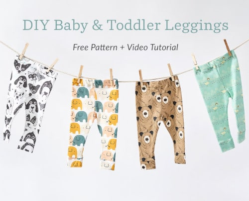 DIY baby leggings - free pattern