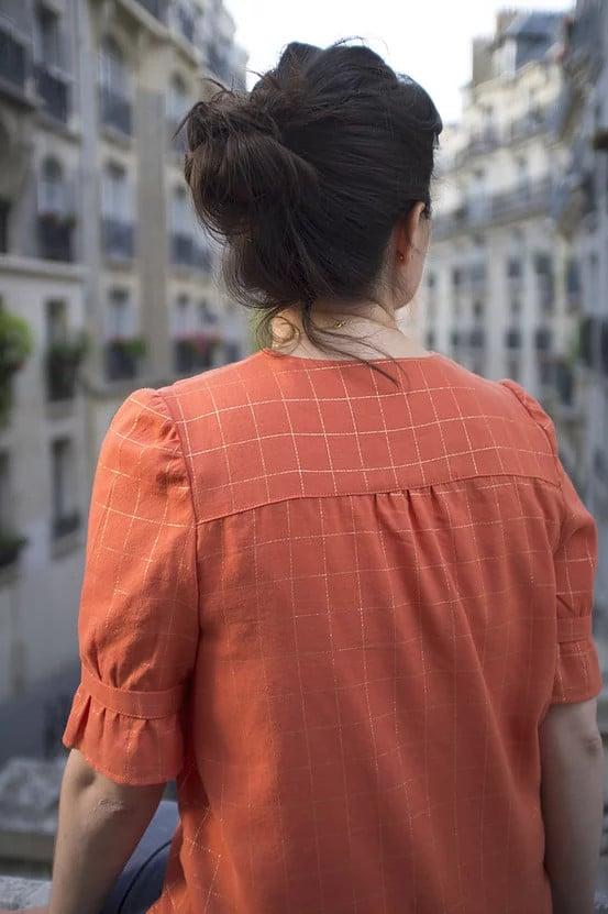 Dos froncé du chemisier Dorothie (patron Slow Sunday Paris)