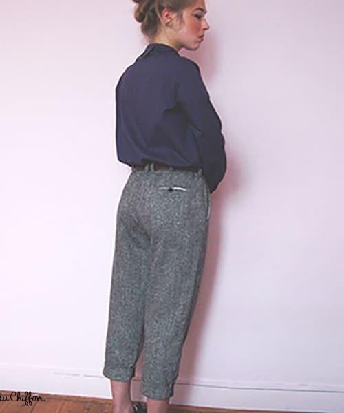 Pantalon Gilbert (patron RDC) avec sa poche passepoilée au dos