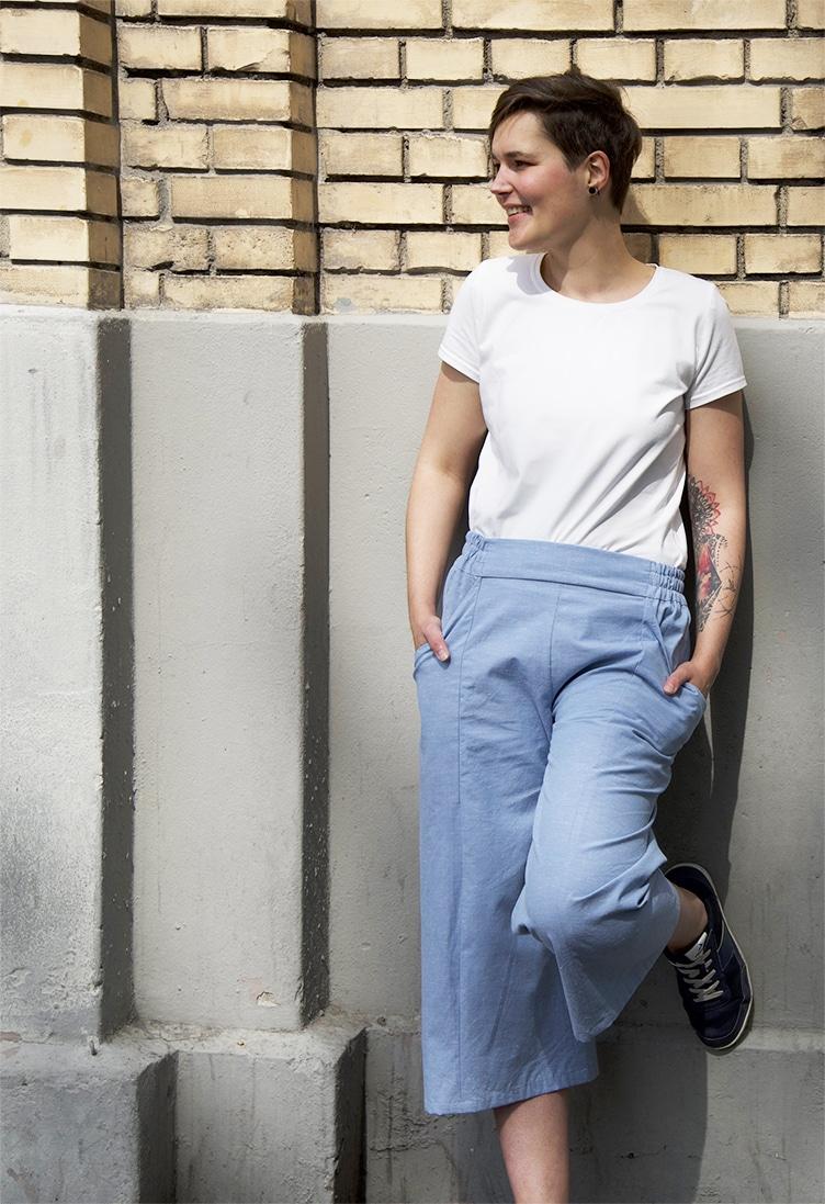 Angélique la créatrice de Fiat Lux Patrons en jupe-culotte M.GYVER