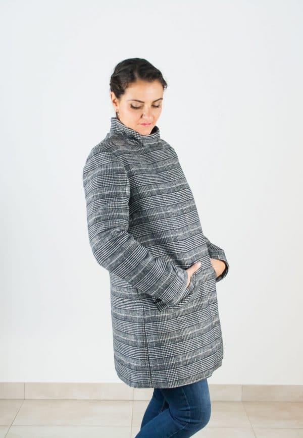 Manteau Tromso à col montant - patron Anne Kerdiles