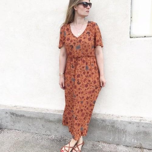 Patron Maya hacké en robe longue d'été