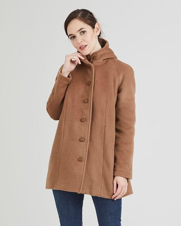 Manteau à capuche Nora de Coralie Bijasson