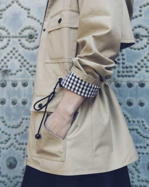 Détails de la veste à capuche Serra - patron Pauline Alice Patterns