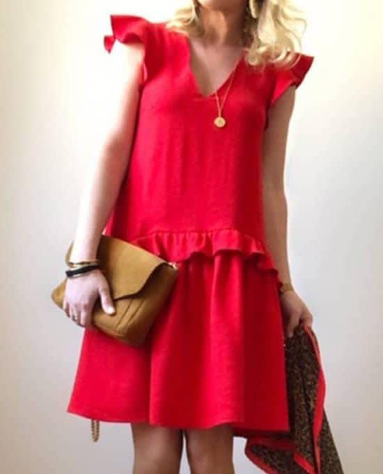 Robe Délice rouge MadeinEstel x Super Bison