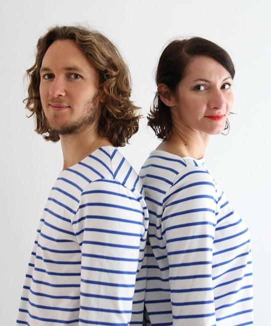 Duo de marinières Milor homme / femme - I AM Patterns