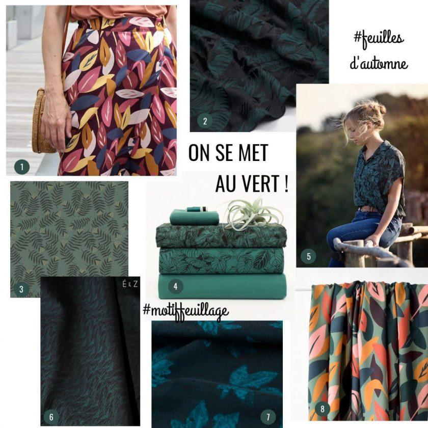 Sélection de tissus motif feuilles ou feuillage - Louise Magazine
